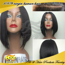 Top quality 100% unprocessed virgin hair glueless silk top full lace wig